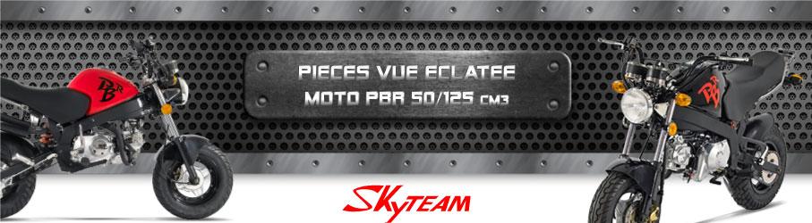 Vue Eclatée Moto PBR 50/125cc - Pièces Détachées Moto PBR 50/125 cm3