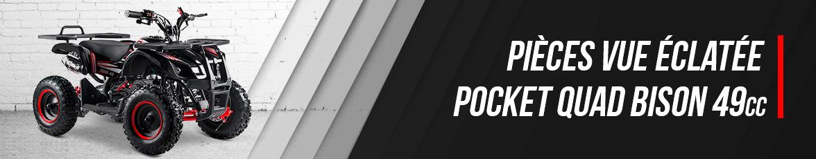 Vue Eclatée Pocket Quad BISON 49 - Pièces Détachées Pocket Quad 49cc