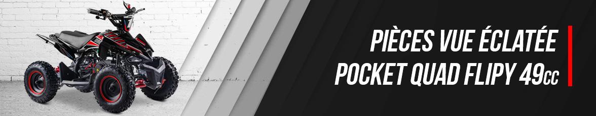 Vue Eclatée Pocket Quad FLIP 49 - Pièces Détachées Pocket Quad 49cc