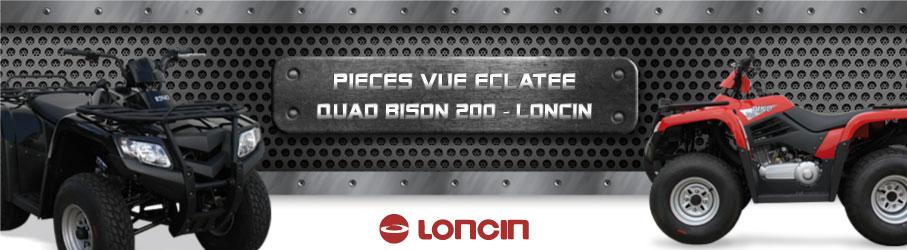 Vue Eclatée Quad Bison 200 LONCIN - Pièces Détachées Quad Bison 200 LONCIN