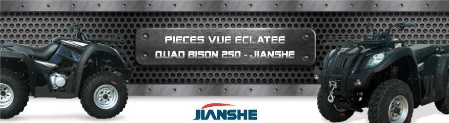 Vue Eclatée Quad Bison 250 JIANSHE - Pièces Détachées Quad Bison 250 JIANSHE