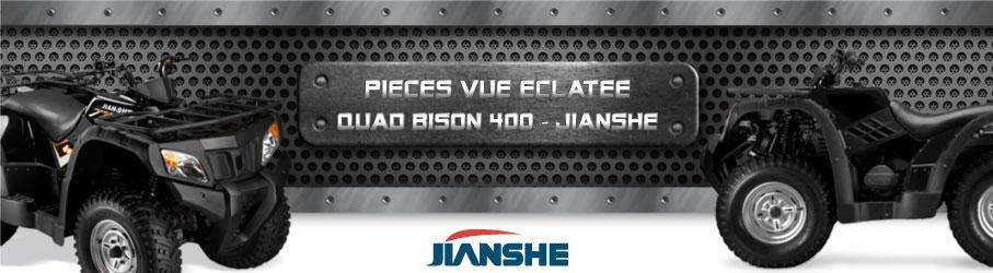 Vue Eclatée Quad Bison 400 JIANSHE - Pièces Détachées Quad Bison 400 JIANSHE