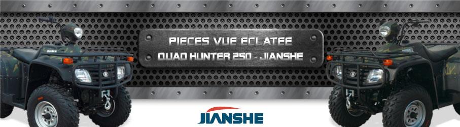 Vue Eclatée Quad Hunter 250 JIANSHE - Pièces Détachées Quad Hunter 250 JIANSHE