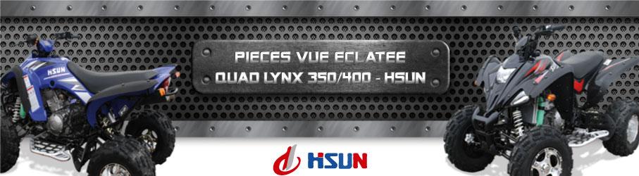 Vue Eclatée Quad Lynx 350/400 HSUN - Pièces Détachées Quad Lynx 350/400 HSUN