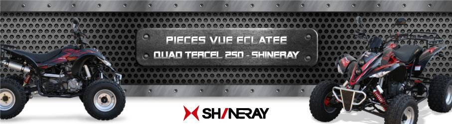 Vue Eclatée Quad Tercel 250 SHINERAY- Pièces Détachées Quad Tercel 250 SHINERAY
