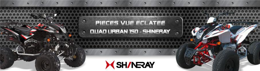 Vue Eclatée Quad Urban 150 SHINERAY - Pièces Détachées Quad Urban 150 SHINERAY