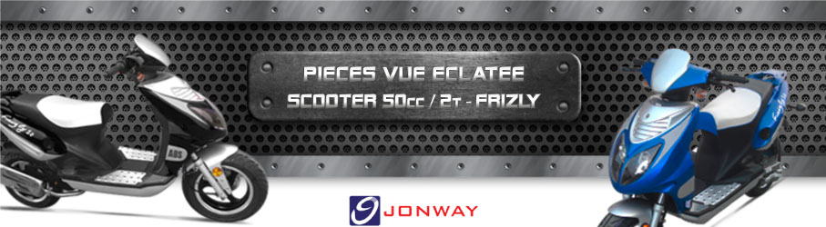 Vue Eclatée Scooter 50cc / 2 Temps JONWAY Frizly - Pièces Détachées Scooter 50cc / 2 Temps JONWAY Frizly
