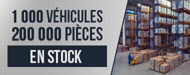 Véhicules et pièces détachées en stock