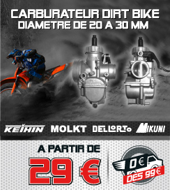 Carburateur KEIHIN / MOLKT / DELLORTO / MIKUNI - Diamètre de 20 à 30mm - Dirt Bike / Pit Bike
