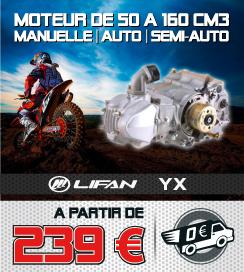 Moteur YX / LIFAN - De 50 à 160 cm3 - Dirt Bike / Pit Bike