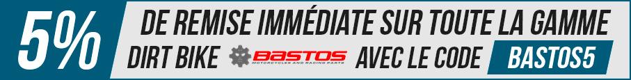 5% de remise immédiate sur toutes les dirt bike BASTOS- Dirt Bike / Pit Bike de 50 à 150cc