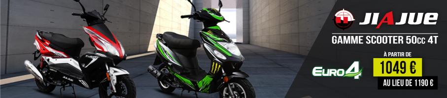 Gamme Scooter 50cc 4Temps JIAJUE Euro 4