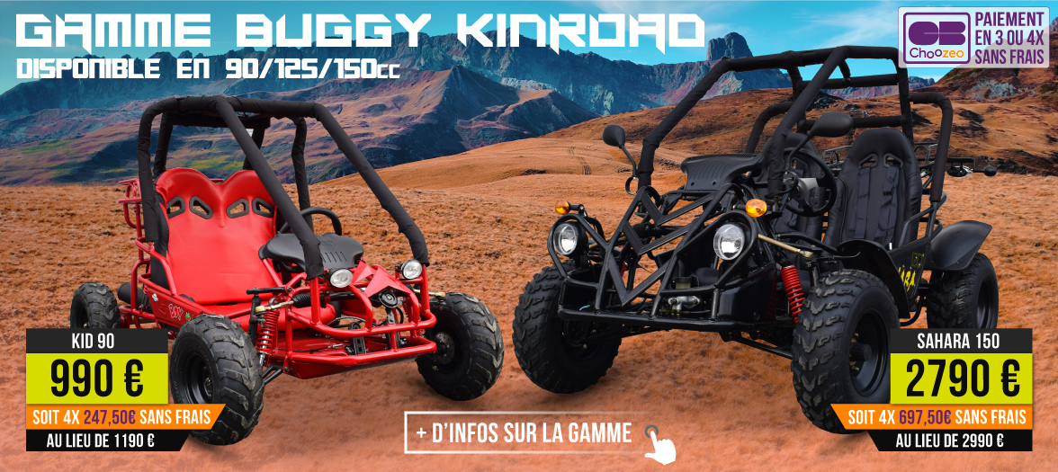 Gamme Buggy Kinroad 90 / 125 / 150 cm3