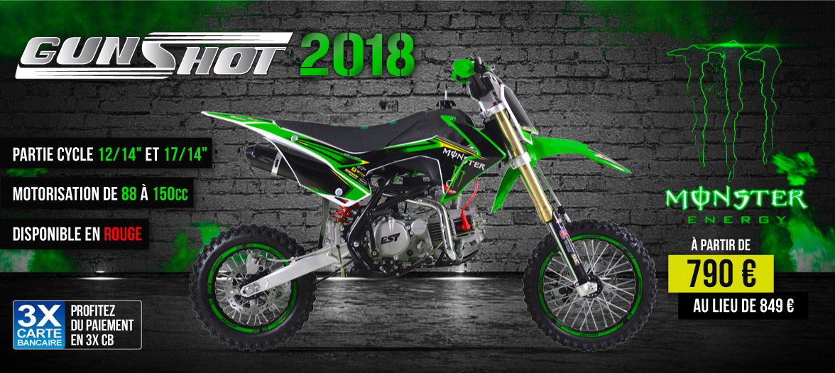Gamme Dirt Bike GUNSHOT 2017 - Pit Bike Edition MONSTER ENERGY