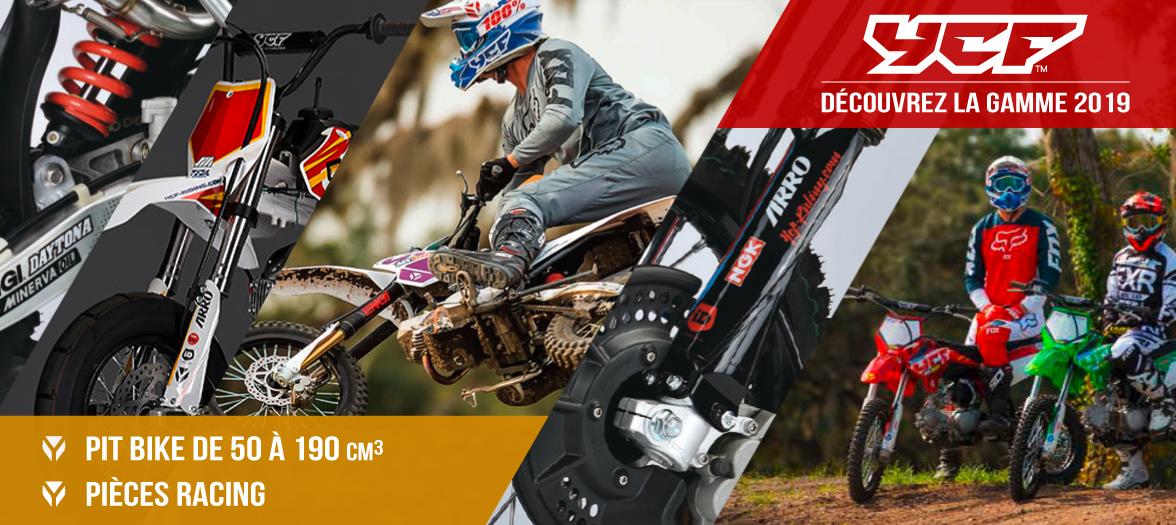 Gamme 2019 YCF - Dirt Bike / Pit Bike de 50 à 190cc et Pièces Racing