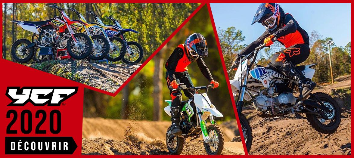 Gamme 2020 YCF - Dirt Bike / Pit Bike de 50 à 190cc et Pièces Racing