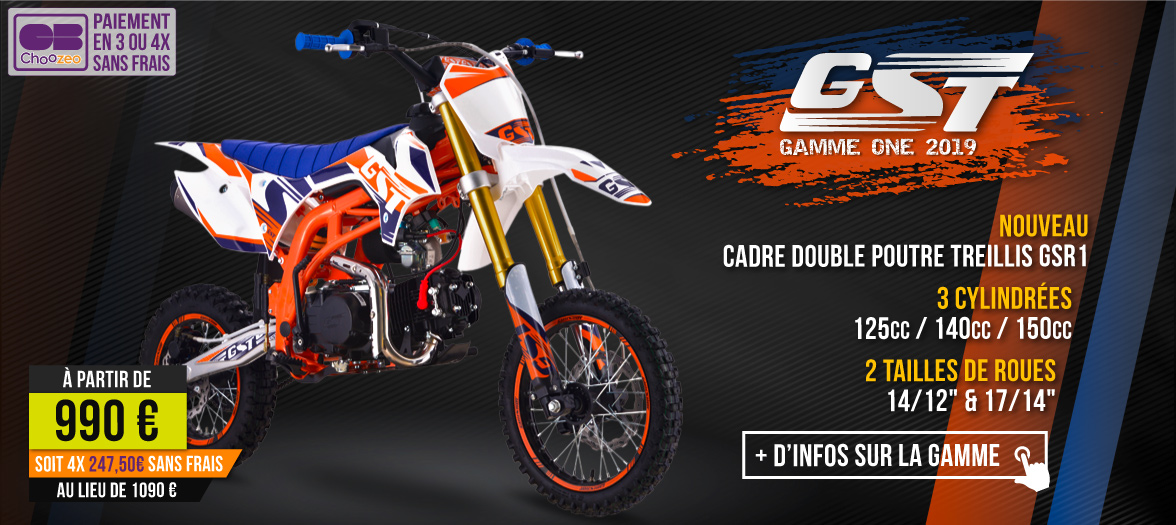 Gamme Dirt Bike GST ONE 2019