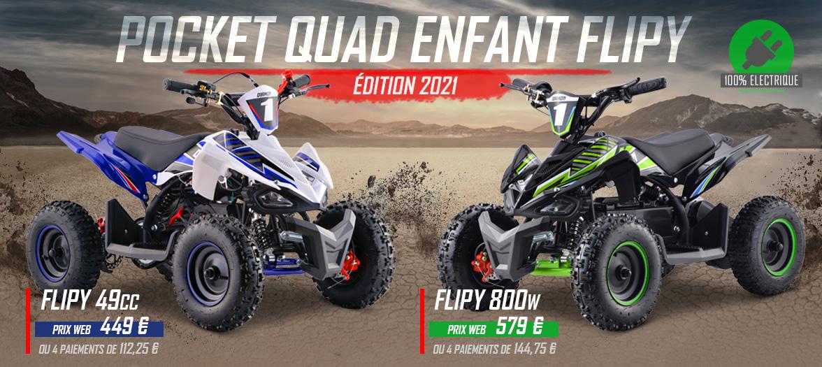 Pocket Quad Pas Cher - Pocket Quad FLIP 49cc / 800W Limited Edition 2021