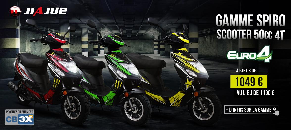 Scooter 50cc Pas Cher - 4 Temps - SPIRO 50