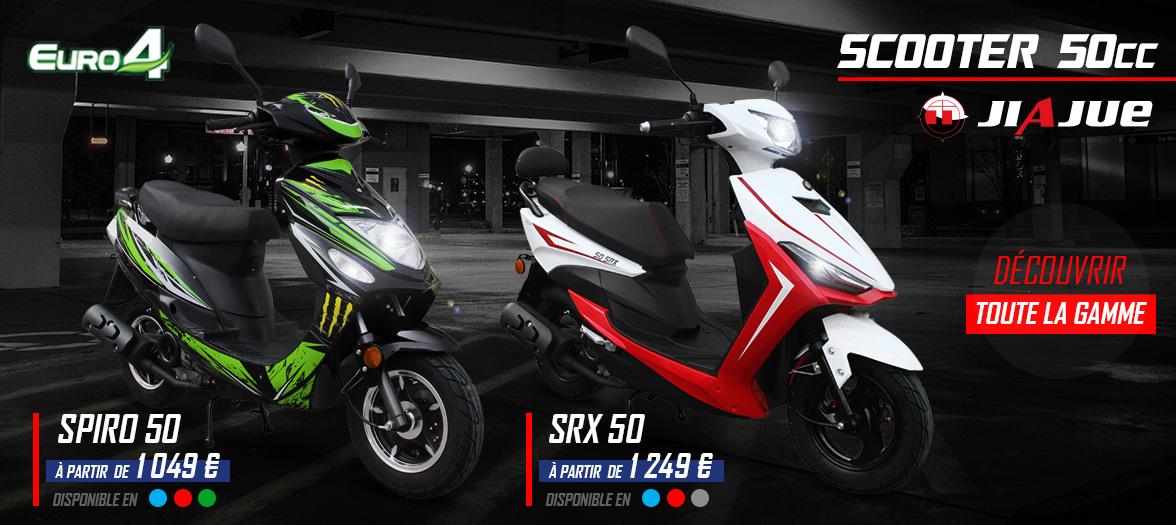 Scooter 50cc / 4 Temps - SPIRO / SRX 50